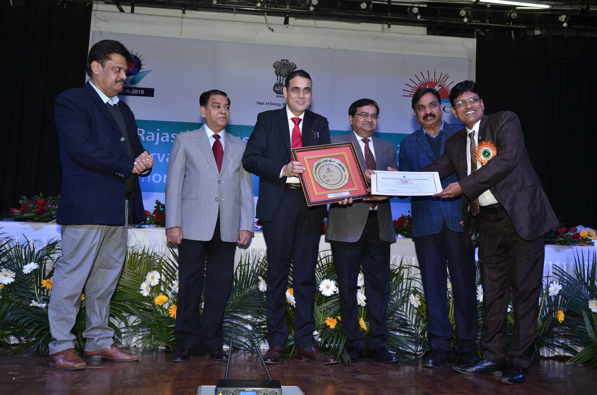 Rajasthan Energy Conservation Award 2019- Second Prize in Textiles Spinning Category