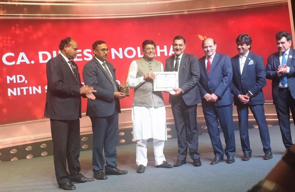 Shri Dinesh Nolkha,Managing Director, receiving award under category